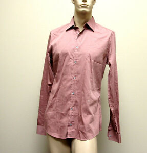 $510 NEW Authentic GUCCI Mens Cotton/Silk Dress Shirt 41/16 Slim, 269067 6662