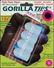 Gorilla Tips Fingertip Protectors Clear Size Medium Guitar Banjo Ukulele Bass