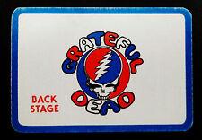 Grateful Dead Backstage Pass 1983 GD 1972 Cartoon Logo Blank No Date No Marking