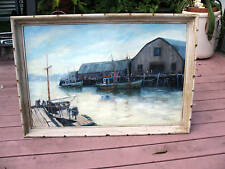 FRED SARGENT  OIL ON CANVAS PAINTING  GLOUCESTER MASS