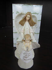 Foundations Enesco Angel w/ Girl God Bless You On Your First Communion NEW