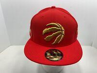 New Era NBA 9FIFTY Red & Gold Toronto Raptors Snapback Flat Bill Cap, NEW!