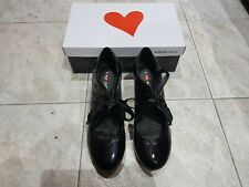 women ladies i love billy macie black patent dress heels shoes us 8 euro 39 NEW