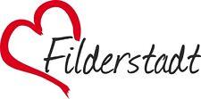"AUTO Adesivo ""Filderstadt"" Sticker Città Germania circa 8x16cm konturgeschn."