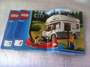 LEGO CITY 60056 Camper Van Instruction Manuals Booklets 1&2 (No Bricks included)