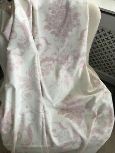 Laura Ashley Pencil Pleat, Pink Josette Pair of Curtains, 220x130