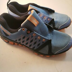 Reebok Womens Blue Orange 3D Fuse Frame Running Athletic Shoe Sz 7 US No Laces