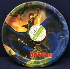 """8 Hallmark How to Train Your Dragon 8 3/4"""" Plates Paper Round Birthday Party NEW"""