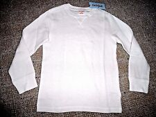 Boys ivory long sleeve Off White Cream Thermal shirt top M 8 10 Cat & Jack NWT