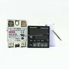 ITC-100VH 240V Digital PID Temperature Controller + 80DA SSR + PT100 Sensor