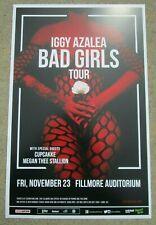 "Iggy Azalea ""Bad Girls"" Tour November 23, 2018 Denver Promo 11x17 Concert Poster"