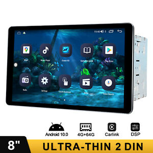 8 Inch Multi Touch Screen Android 10.0 Car Stereo Octa Core CarAutoPlay System