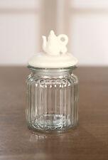 Glass Air Tight Canister Fresh Kitchen Teapot Lid Tea Coffee Storage Decor
