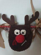 Rudolf / Rentier Adventskalender, gehäkelt NEU