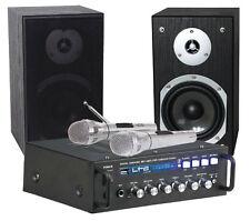 LTC Karaoke Sound System STAR4-MKII Party DJ inc 2 x Mic Bluetooth USB