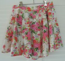 COTTON ON ~ FLORAL SKATER SKIRT SIZE L