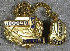 Vintage 1966 HHS Record Club Lapel Pin