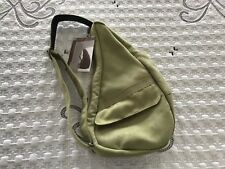 AMERIBAG 2103 Poly-Suede Light Green Small Shoulder Handbag NEW