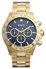 HUGO BOSS 1513340 Ikon Chronograph 44mm Herrenuhr - Gold/Blau