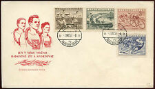 Czechoslovakia 1952 Physical Culture, Sports FDC First Day Cover #C23305