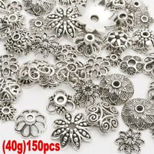 45g Mixed Tibet Silver Bead Caps Spacer Beads For Jewelry Making About 150pcs w7