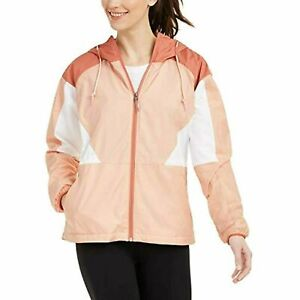 Columbia Womens Peach Cloud Side Hill Colorblocked Hooded Jacket Size XL $100