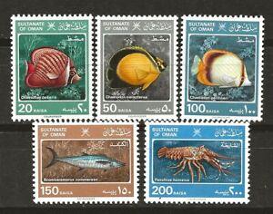 Oman 1985 Fauna Wildlife Marinelife Fisch Coral Reef Fish compl. set MNH