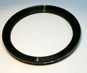 67 mm to 77 mm filter ring Metal adapter threaded screw in step-up