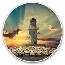 2 x Vinyl Stickers 30cm - Beautiful Lighthouse Ocean Cool Gift #2742