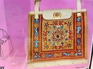 Vintage*General Crafts*REGENCY*Jeweled & Jewel Tone Handbag*KIT*COMPLETE*21004N