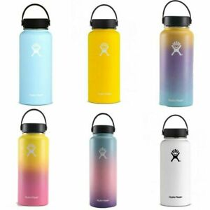 New Hydro-Flask Vacuum Insulated Stainless Steel Water Bottle Wide Mouth Travel