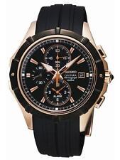 Seiko SNAF14 Coutura Alarm Chronograph Men's Quartz Watch Rose Gold Tone
