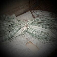 "50 Homespun Fabric Strips~Garden Collection~ 1"" x 18"" ~Crafts~Ties~Primitives~"