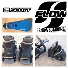 Tabla Snowboard SCOTT USA Tabla 150cm. + Fijaciones automáticas FLOW Pro