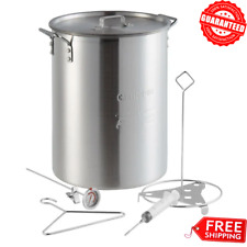 Outdoor Yard Cooking Turkey Frying Aluminum Fry Stock Pot With Lid & Accessories