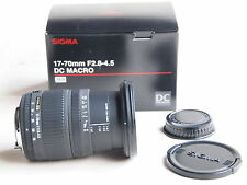 PENTAX FIT Sigma DC MACRO  17 - 70 mm F2.8-4.5  Lens + CAPS + BOX