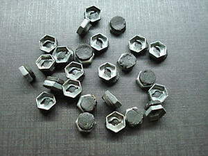 "25 pcs NORS 1/8"" emblem name plate letter nuts with mastic sealer fits Dodge"