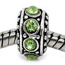 August Birthstone Spacer Bead Charm for european snake chain charm Bracelet