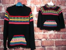 Hanna Andersson Matching Sweaters Mother-Child Womens L Childs 110cm Black Multi