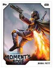 STAR WARS CARD TRADER  - MOMENT'S EDGE WHITE OPEN EDITION  - BOBA FETT
