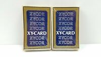 Vintage Gemaco Plastic Coated Playing Cards 2 PACKS XYCOR Made in USA New Sealed