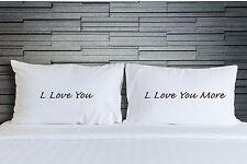 Pillowcases I Love You More Bedroom Bedding Adult Novelty Wedding Gift WSD753