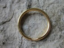 """10 Pcs. Gold Plated Stainless Steel Key Chain Rings - US Seller - Quality - 1"""""""