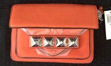 Linea Pelle Grayson Cross Body Studded Orange Leather Purse Teen Christmas Gifts
