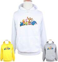 Winnie the Pooh Tigger Pig Happy Print Sweatshirt Unisex Hoodies Graphic Hoody