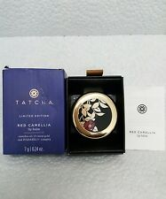 TATCHA Limited Edition Red Tint Camellia Lip Balm w 23 k gold BRAND NEW IN BOX