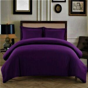 Super Duvet Collection 1000 TC Ultra Soft Egyptian Cotton US Size & Purple Solid