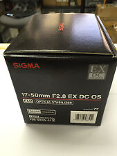 Sigma 17-50mm F2.8 EX DC OS HSM Lens made in Japan for Nikon APS-C DSLR Camera
