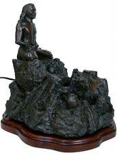 Babaji Statue Fountain in Meditation Lotus Pose - Bronzetone Effect Babaji