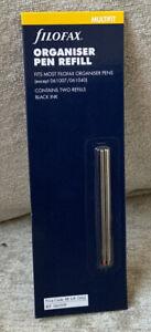 Filofax Mini Pen Refill Pack of 2 - Black